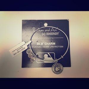 ALEX & ANI - Boston Red Sox Charm Bracelet Silver